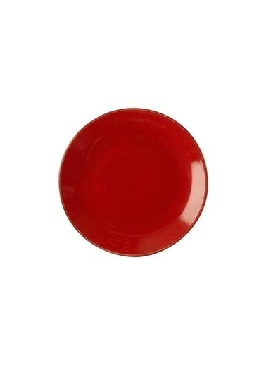 Porland Seasons Kırmızı Düz Tabak 24Cm Renkli
